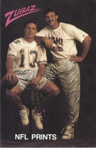 Even Dan Marino found out that when you wear Zubaz, the joke is ALWAYS on you (literally).